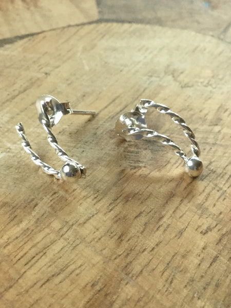 925 STERLING SILVER PUSH-BACK STUDS