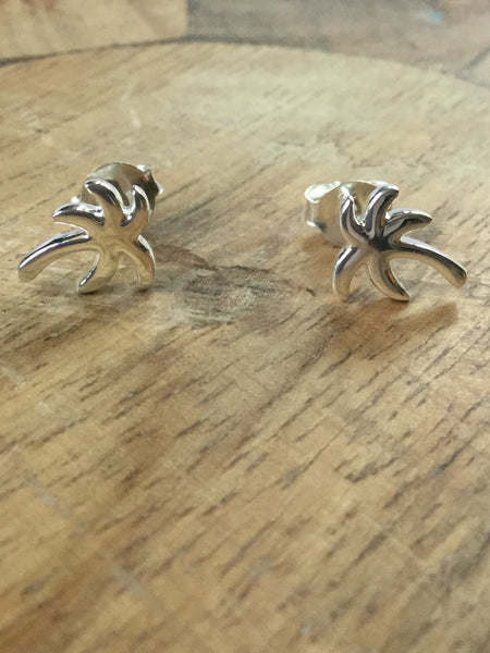925 STERLING SILVER COCONUT TREE STUDS
