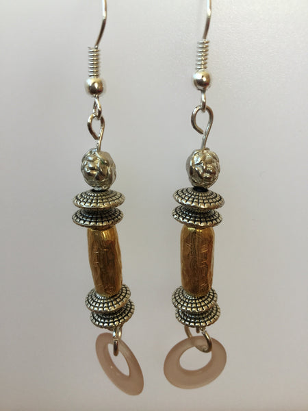 ARTISAN VINTAGE LUCITE BEAD EARRINGS