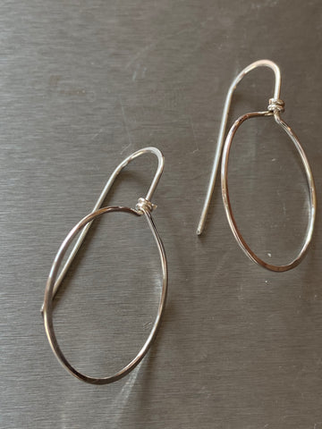 ARTISAN STERLING SILVER HOOP EARRINGS