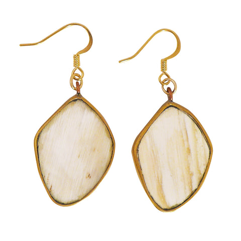 WHITE HORN DROP EARRINGS