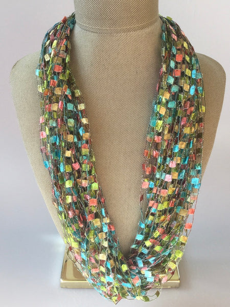 ARTISAN JEWELED CROCHET SCARVES