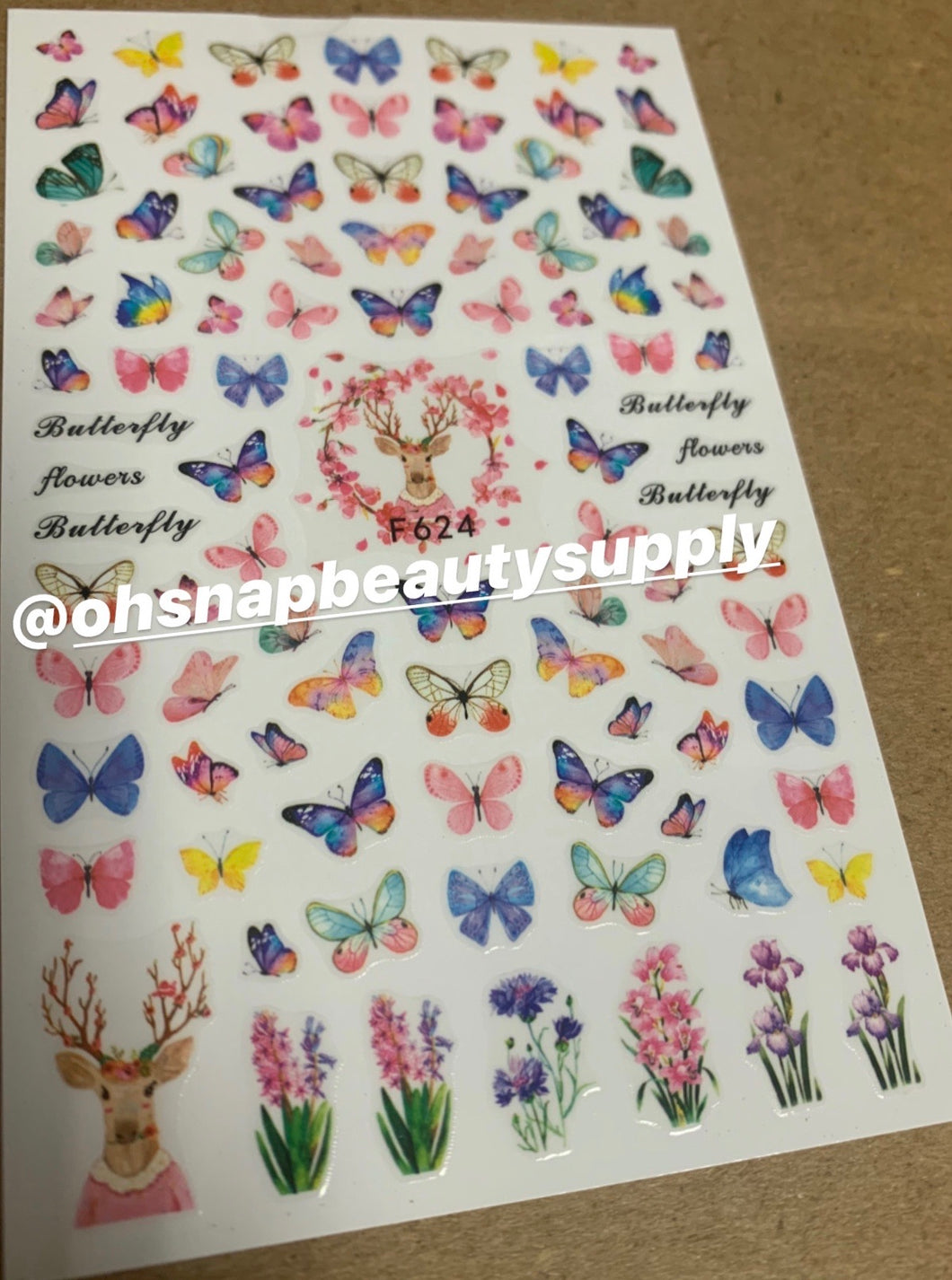 Butterfly F624 Sticker