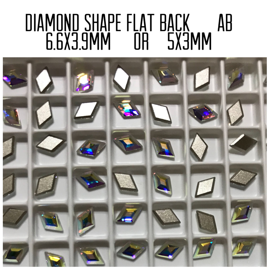 Diamond Shape Flat Back