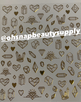 Gold Heart 0204 Sticker