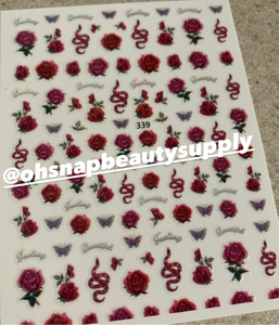 Rose & Snake 339 Sticker