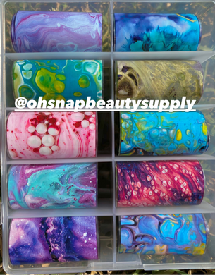 Color Galaxy Marble Transfer Foils