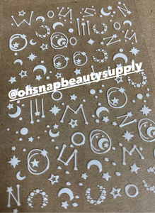 White Galaxy & Star 3227YG Sticker
