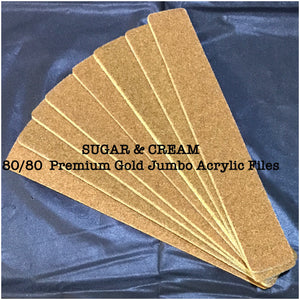 SUGAR & CREAM 80/80  Premium Gold Jumbo Acrylic Files
