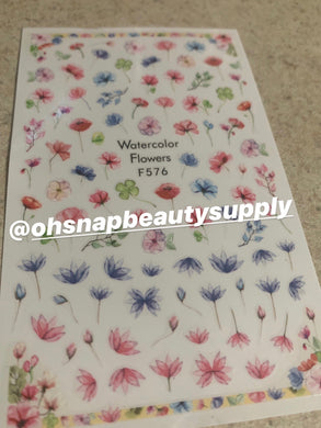 Watercolor Flower F576 Sticker