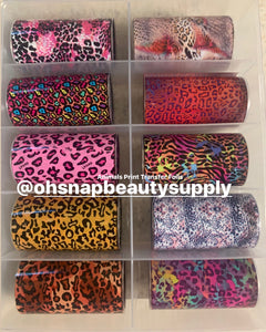 Animal Print Transfer Foils 10pcs