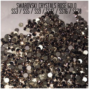 Swarovski Crystals Rose gold SS3- SS20