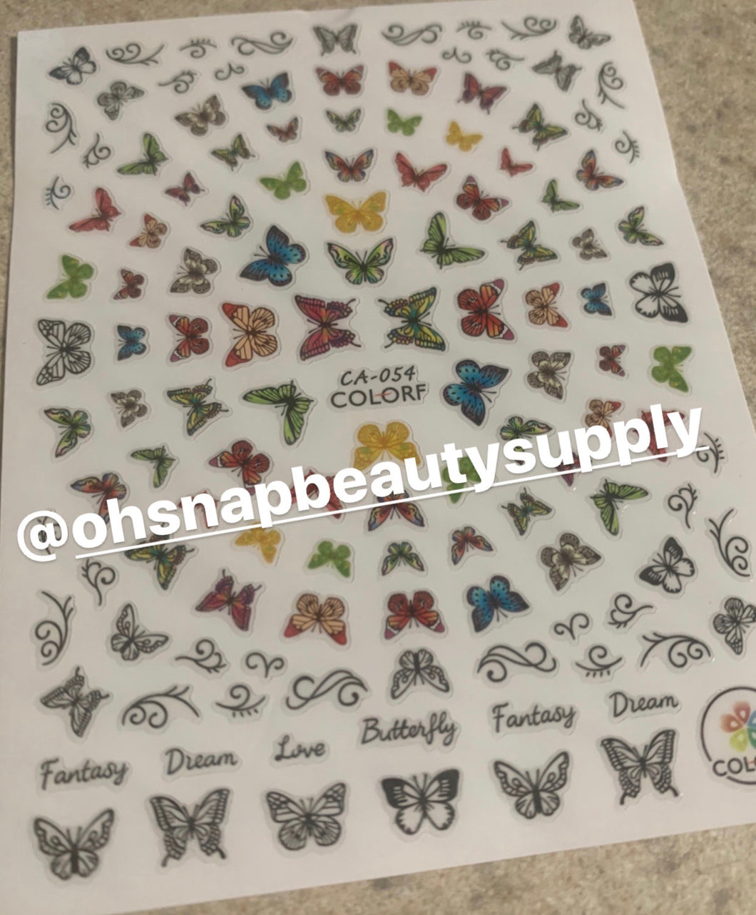 Butterfly CA-054 Sticker