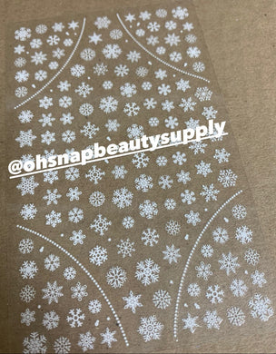 White Snowflakes 282 Sticker