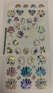Assorted Japanese Seashells Sticker