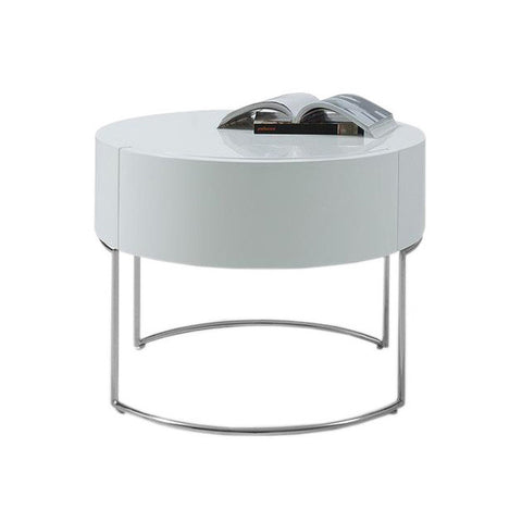 Round Lacquer Nightstand