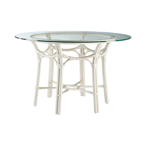 Radial Rattan Dining Table