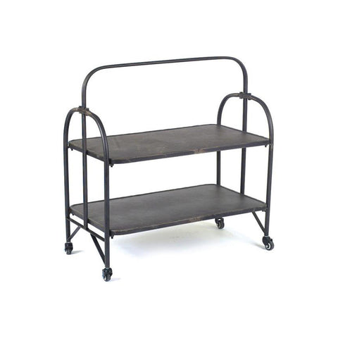 Industrial Metal Shelf on Wheels