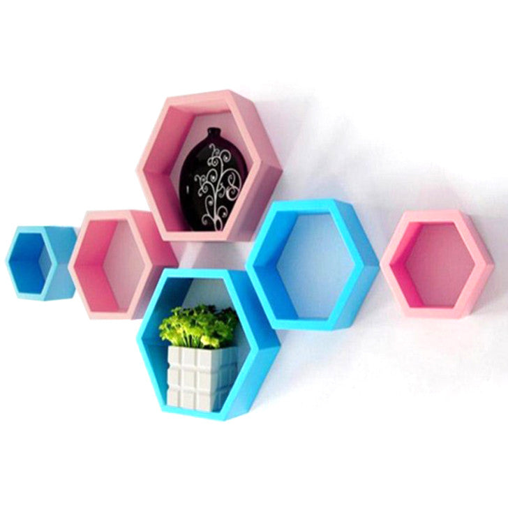 Decornation Edgerton Hexagon Wall Shelves