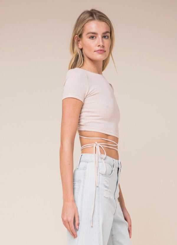 Ivory Coast Open Back Crop Top