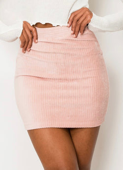 Dusty Rose Mini Skirt