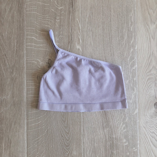 Lilac Seamless One Shoulder Bralette Top