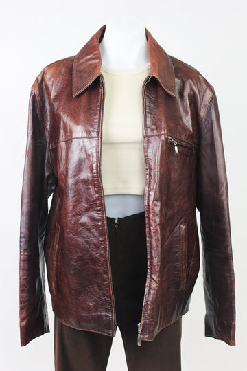 MAGGIE MAY VINTAGE LEATHER JACKET