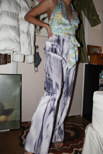tie dye pleated pants
