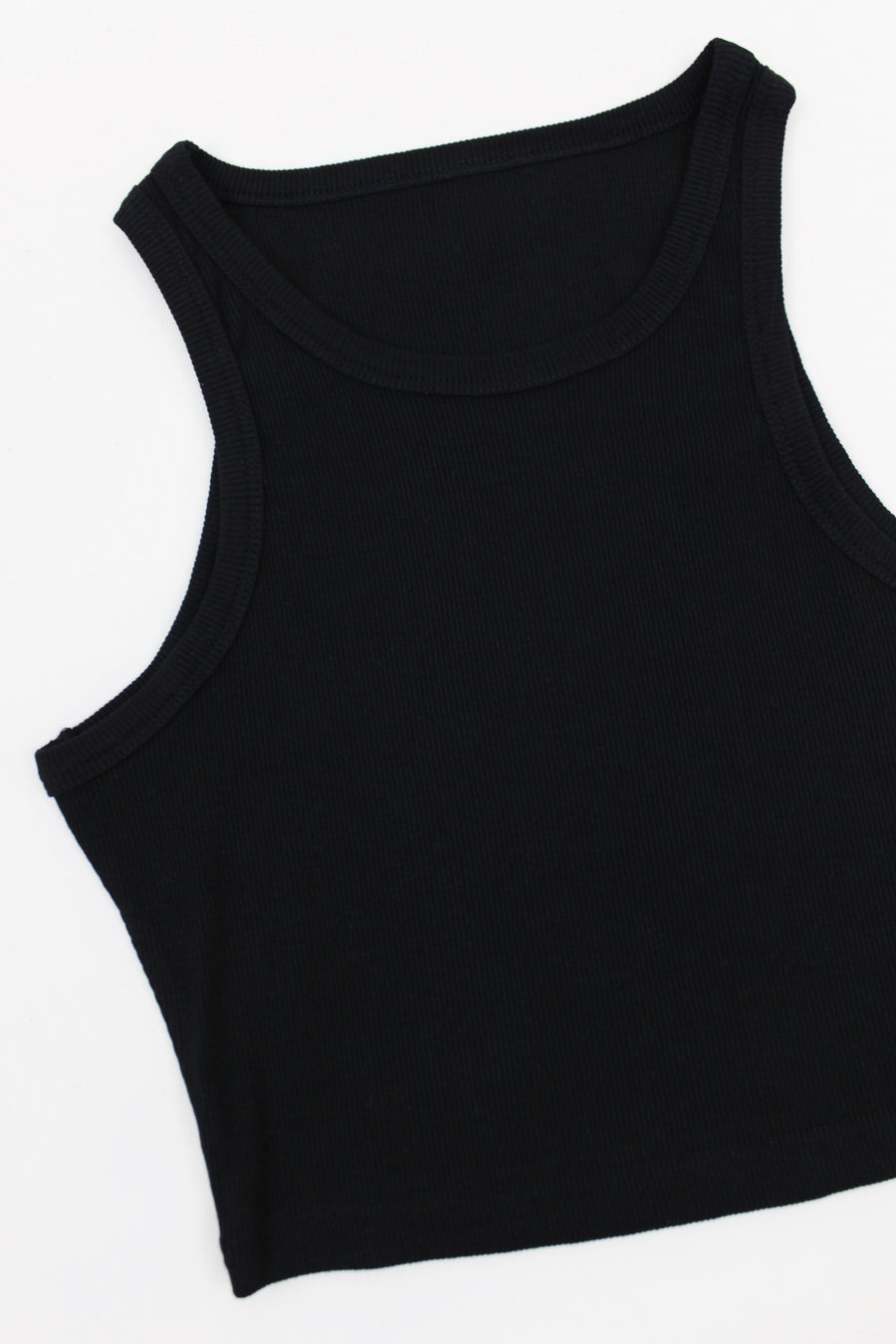 GIVE ME A LITTLE RIBBED TANK / BLACK