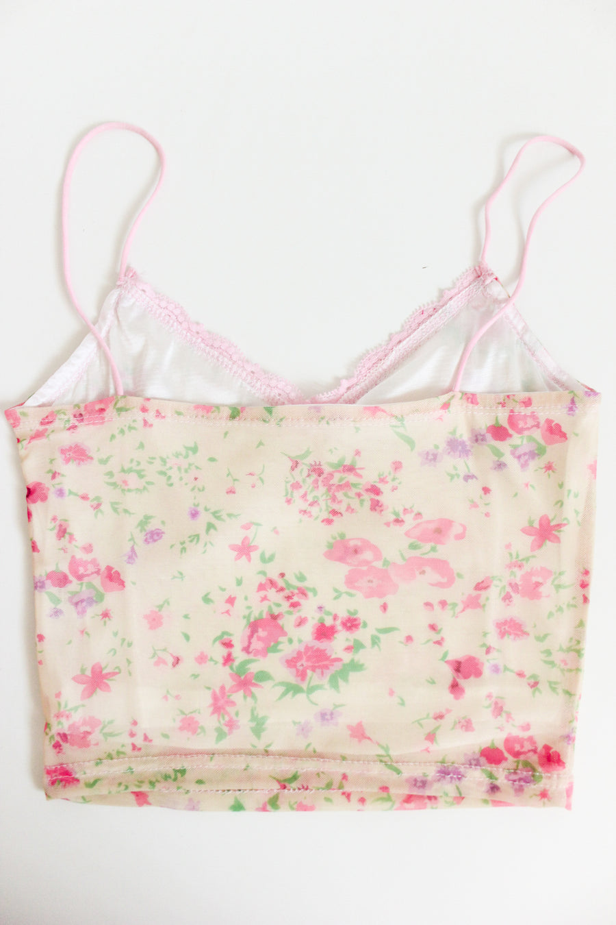 MAKES YOU HAPPY MESH CAMI / FLORAL