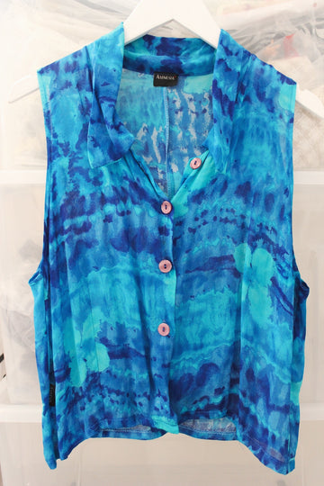 NEW FEELING VINTAGE BLOUSE / BLUE
