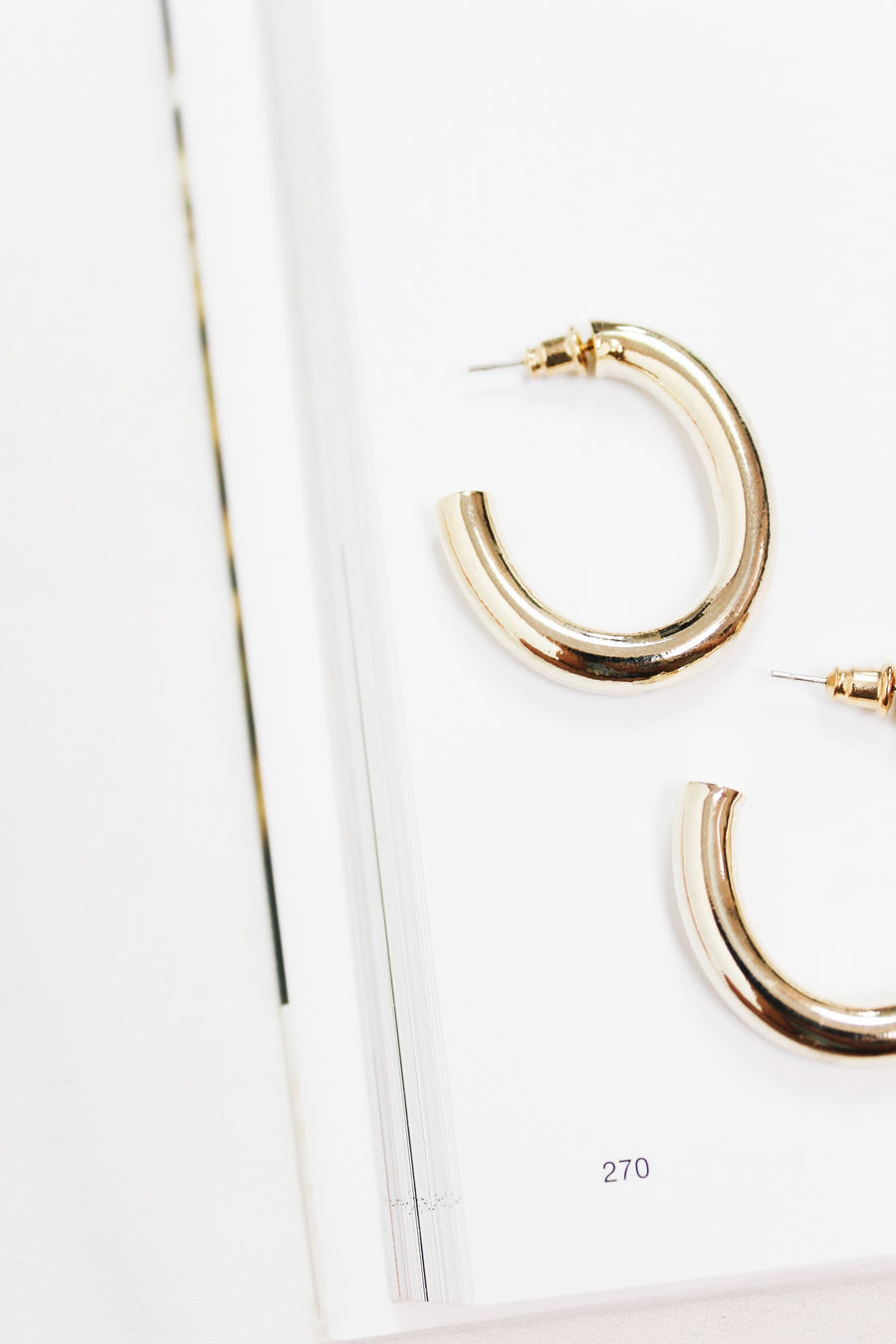 ANOTHER LIFE GOLD HOOPS - Halite Clothing