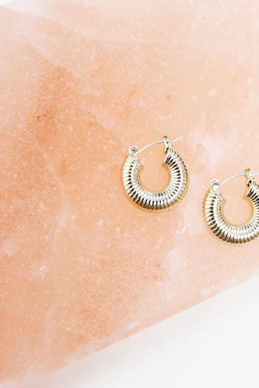 SWEET SPOT GOLD HOOPS - Halite Clothing