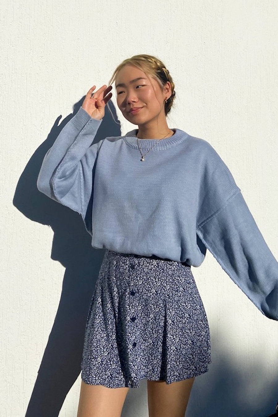 WALK ON BY KNIT JUMPER / BLUE