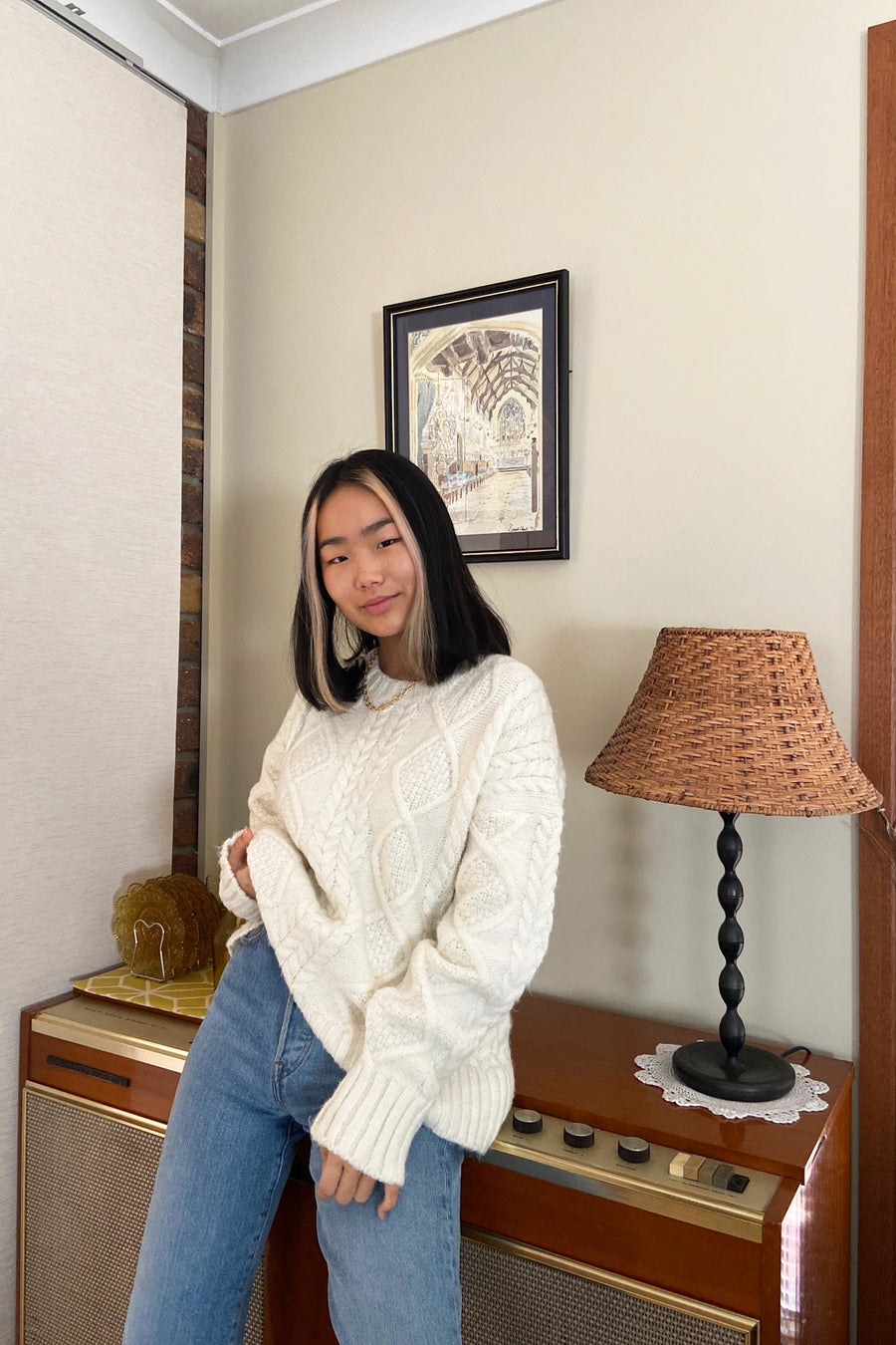 I GOT YOU CABLE KNIT JUMPER / CREAM