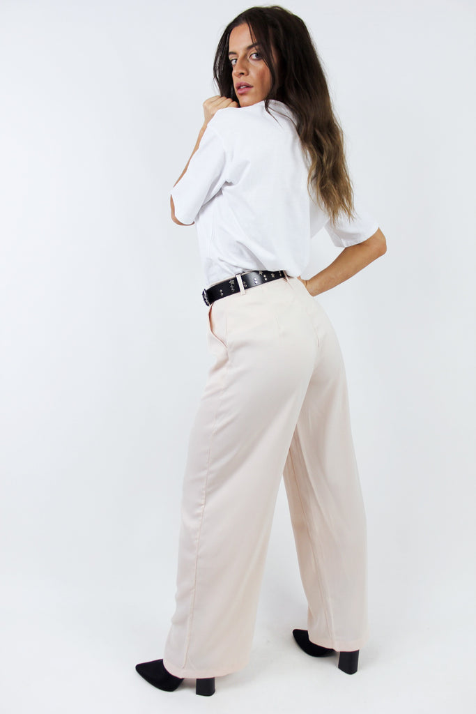 LADY BOSS SILKY TROUSERS / APRICOT