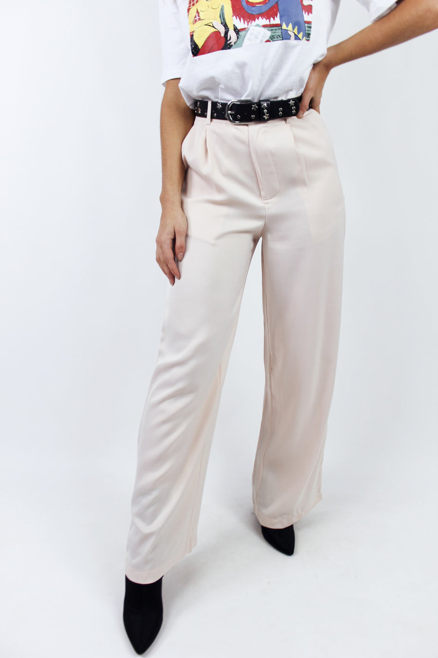 LADY BOSS SILKY PANTS / APRICOT - Halite Clothing