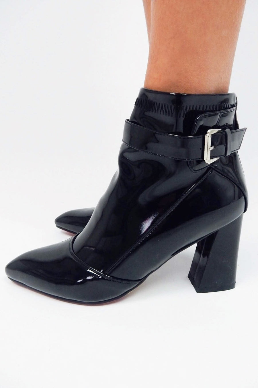 LOVE FOOL BLACK HEEL BOOTS - Halite Clothing
