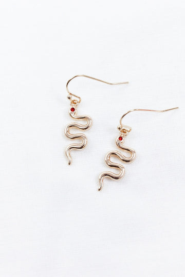 MEDUSA GOLD SNAKE EARRINGS - Halite Clothing