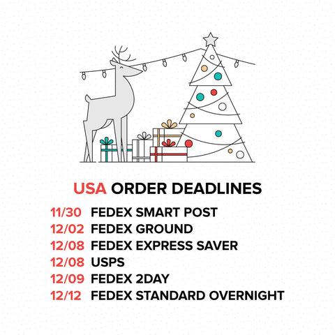 Green Clothing Co Holiday Order Deadlines 2016