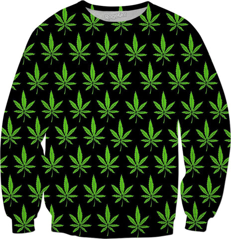 Weed Leaf Sweatshirt - SEND IT and Do It for State!