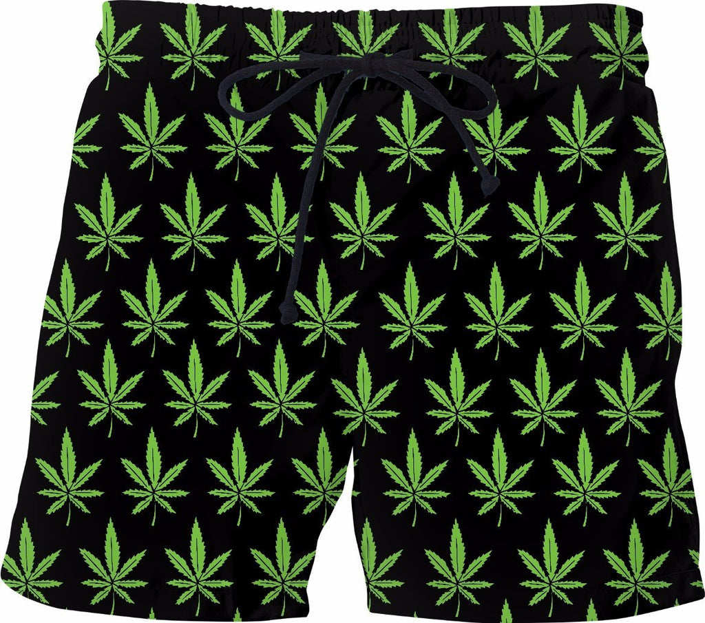 Weed Swim Shorts - SEND IT and Do It for State!