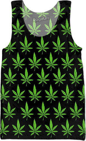 Weed Leaf Tank Top - SEND IT and Do It for State!