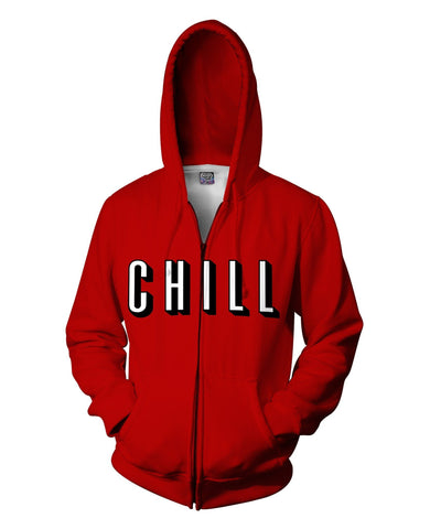 Chill Zip-Up Hoodie - SEND IT and Do It for State!