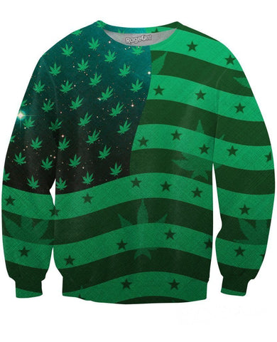 United States of Marijuana Crewneck Sweatshirt - SEND IT and Do It for State!