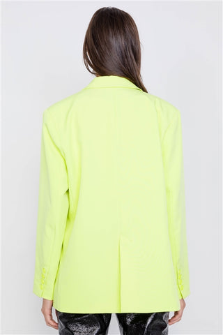 Lemonade Relaxed Fit Boyfriend Casual Blazer Jacket- Back