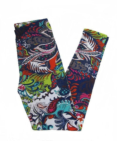 Multicolored Paisley Print Leggings