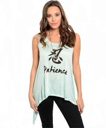 Mint Graphic Top