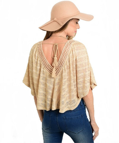 Beige Crop Top- Back View