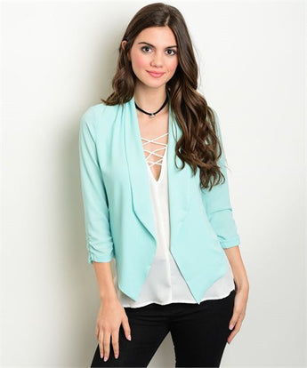 Mint Open Front Blazer